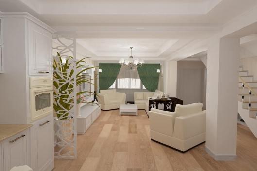 design - interior - living - clasic - Constanta | design - interior - realizat - in  - stil - New - Classic - cu  - accente  - de - lux - pentru - casa- in - Constanta  -  zona -  Tomis  - 3 .